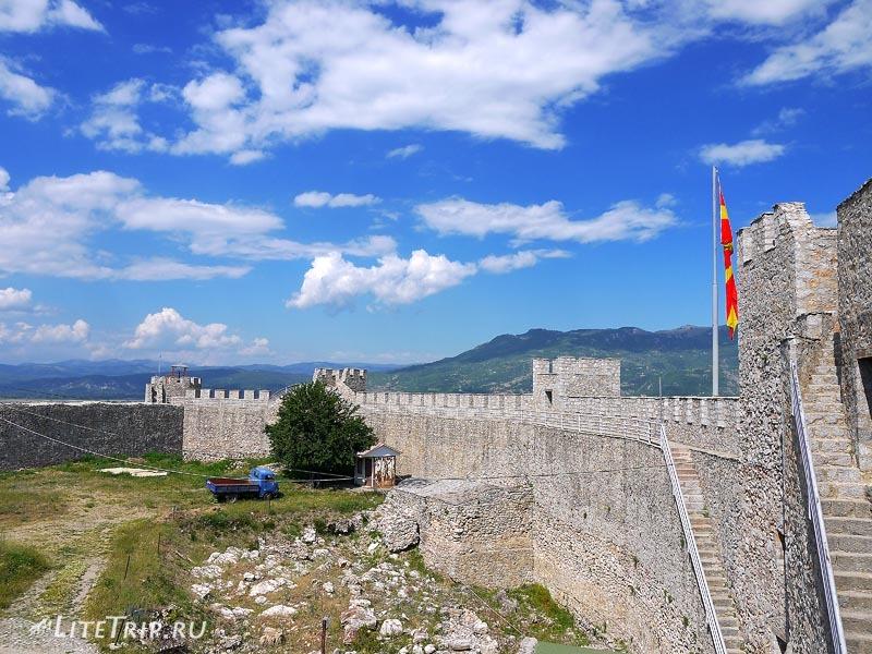 Македония. Крепость царя Самуила изнутри в Охриде.