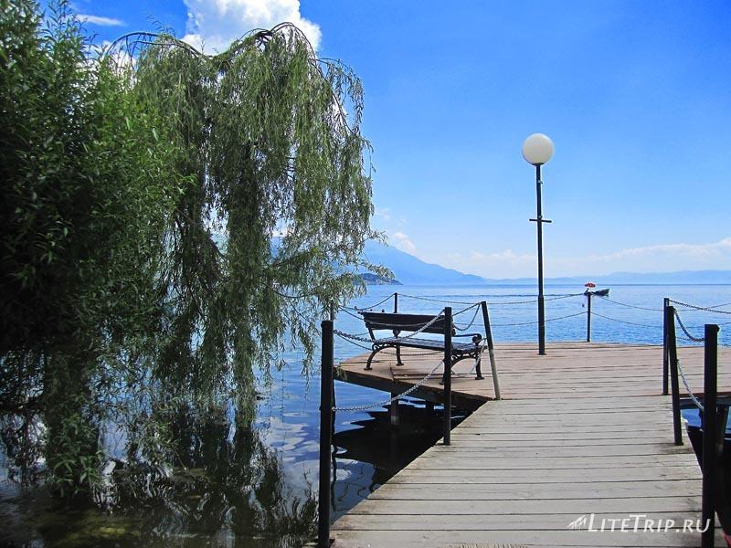 Македония. Охрид - город на озере. Деревянная дорожка