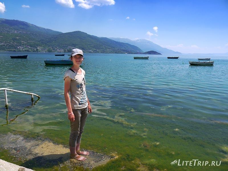 Македония. Город Охрид. Мила на берегу озера.