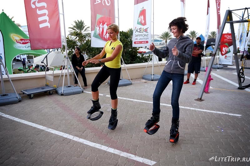 ОАЭ. Дубай Марина - фитнес-фестиваль.