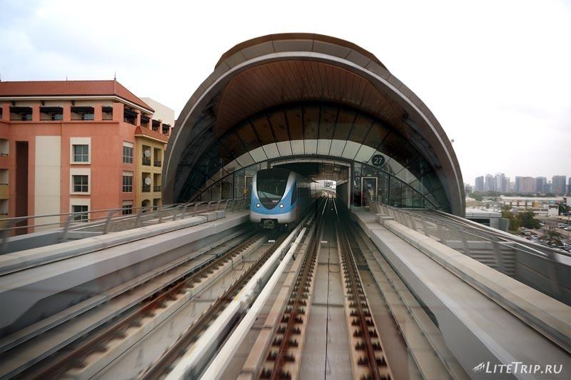 ОАЭ. Дубай Марина - метро.