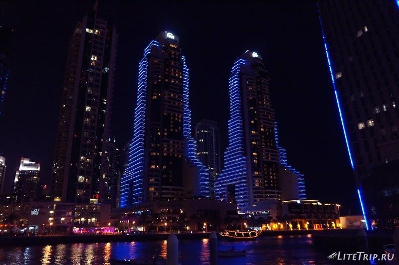 ОАЭ. Дубай Марина - ночной город.