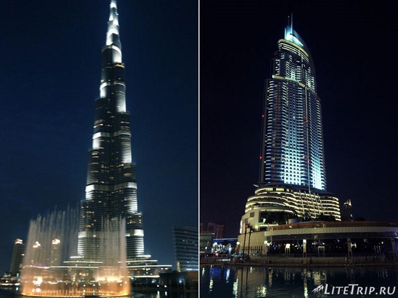 ОАЭ. Дубай. Ночные огни Бурдж Халифа.