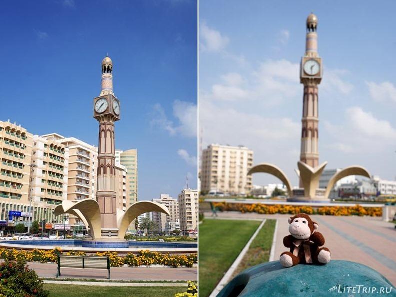 ОАЭ. Шарджа - часы в центре города.
