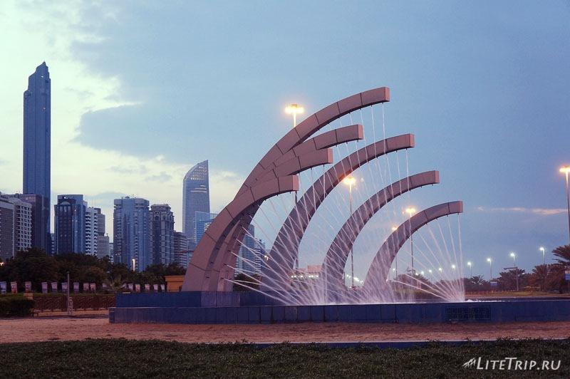 ОАЭ. Абу Даби - фонтан.