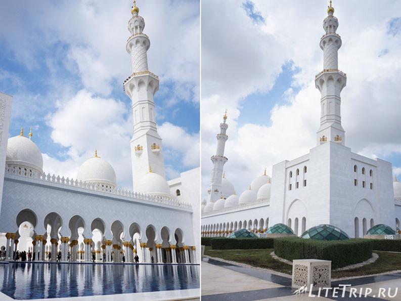 ОАЭ. Абу Даби - большая мечеть шейха Заеда - минареты.