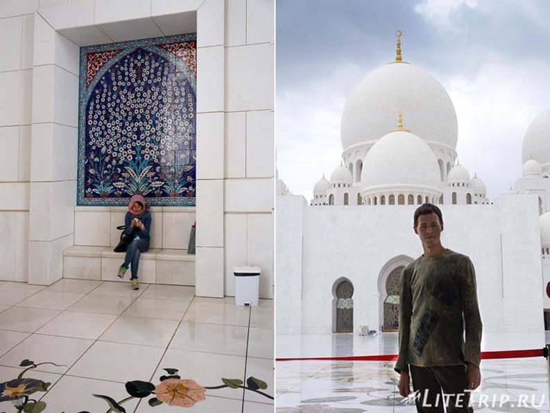 ОАЭ. Абу Даби - большая мечеть шейха Заеда.