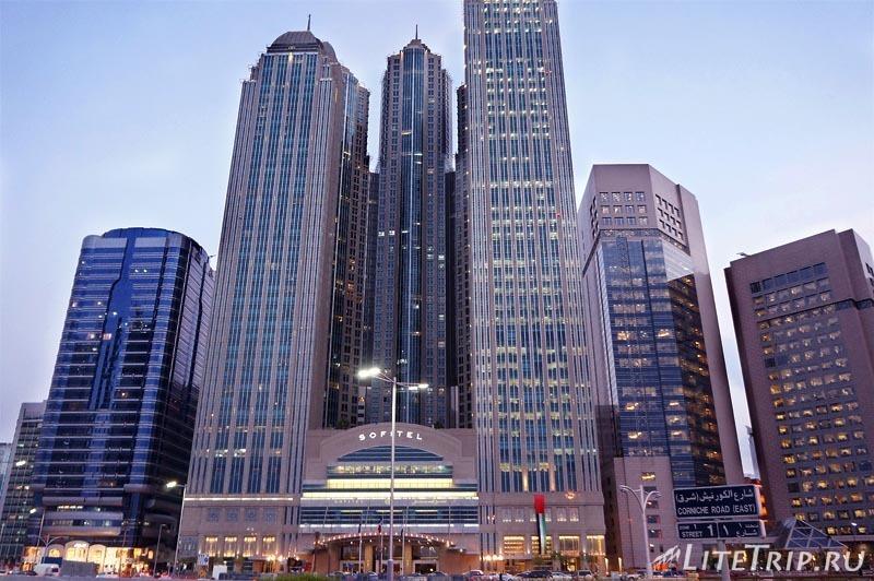 ОАЭ. Абу Даби - высотки, где мы жили.
