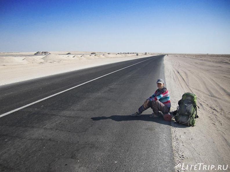 Оман. Дорога Салала - Маскат. Пустыня.