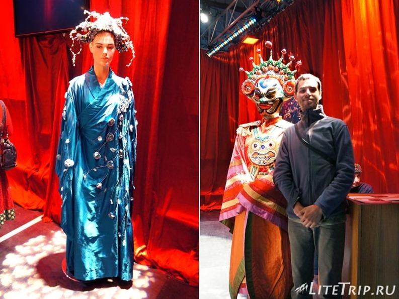 Оман. Фестиваль в Маскате - я с театральными манекенами.