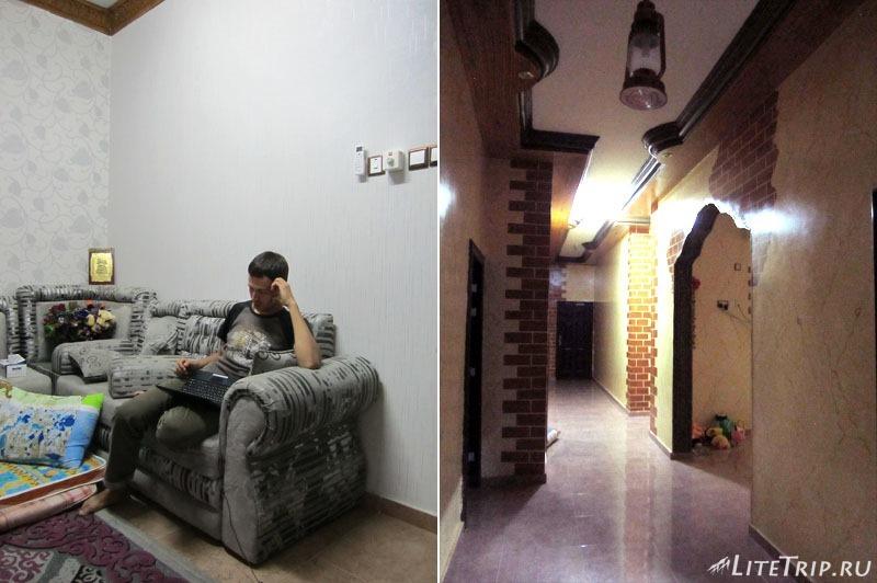 В гостях у оманца - коридор и комната.