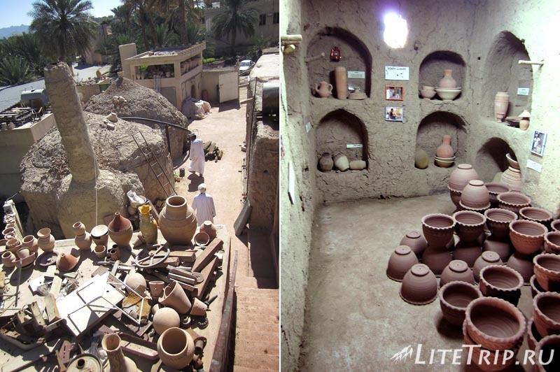 Оман. Бахла - глиняные горшки и печи.