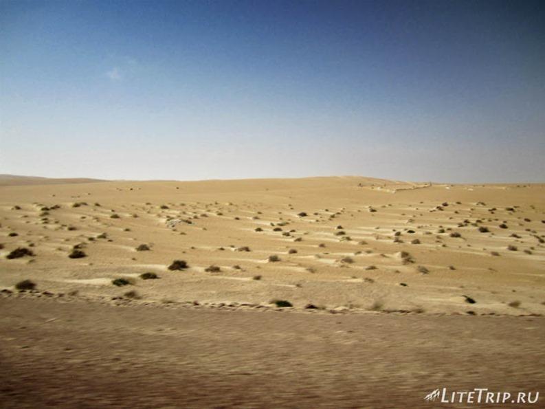 Оман. Дорога в Салалу - пустыня.
