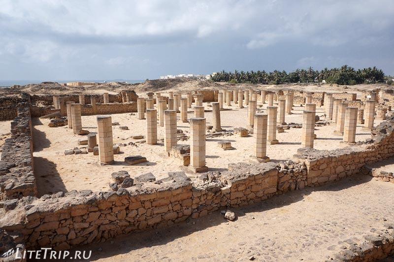 Оман. Салала. Музей Аль Балид - развалины.