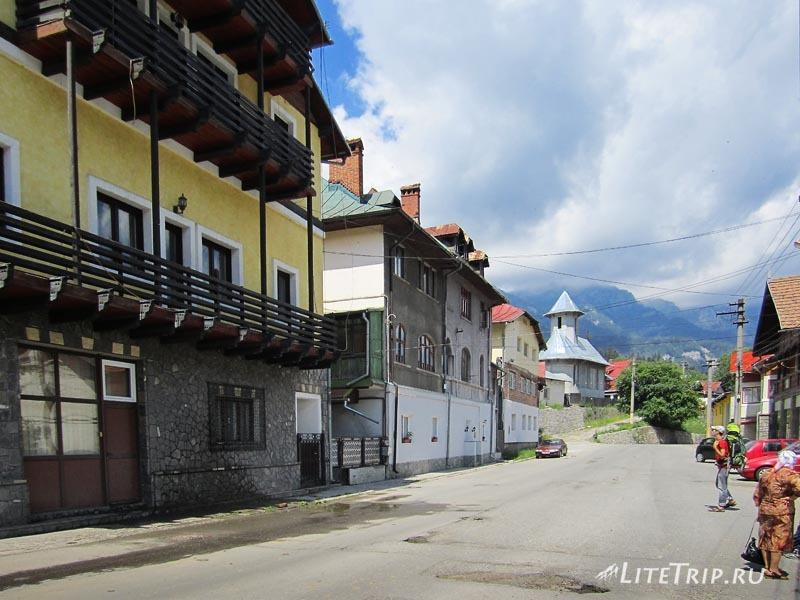 Румыния. Улицы города Синая