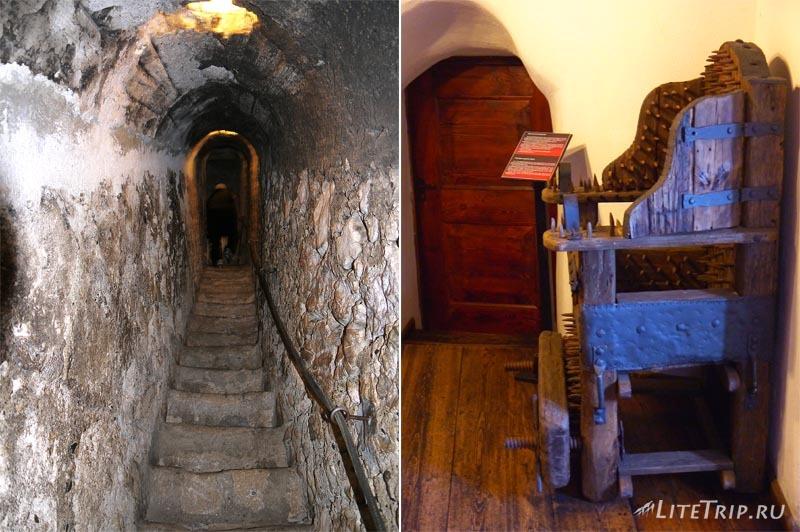 Румыния. Замок Дракулы в Бране. Комната пыток.