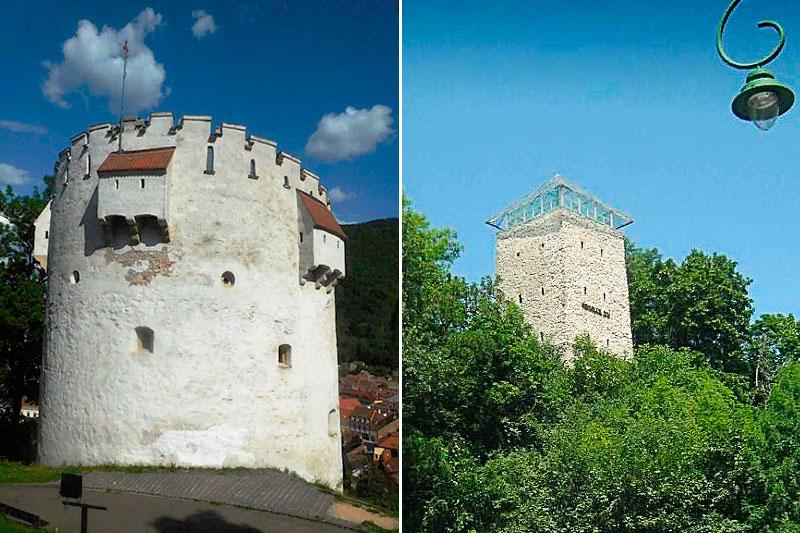 Черная и Белая башни в Брашове