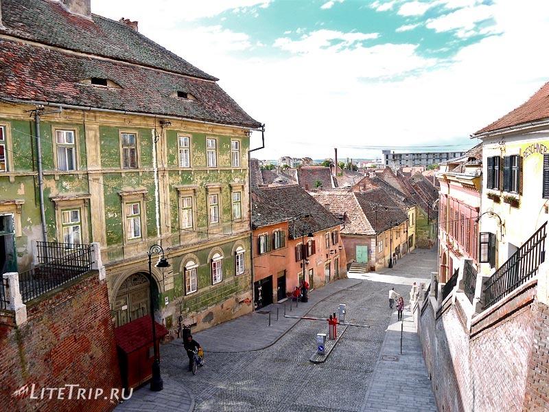 Румыния. Старая часть города Сибиу.