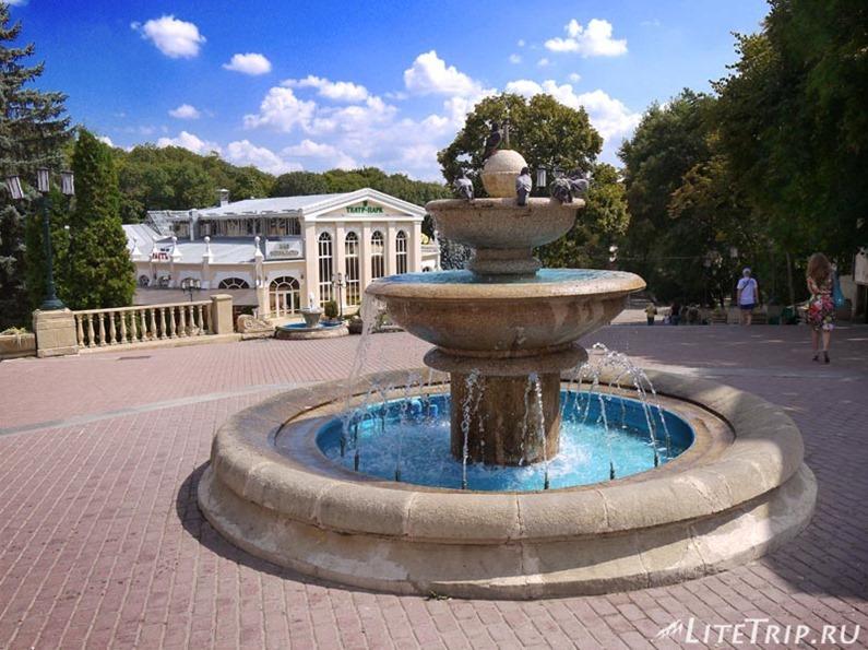 Россия. Ессентуки. Курортный парк - фонтан.