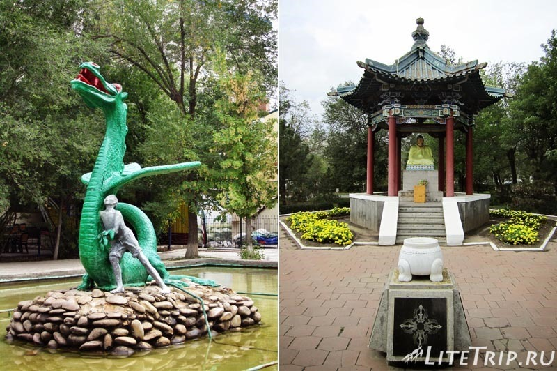 Россия. Элиста (Калмыкия) - статуя Будды Шакьямуни.