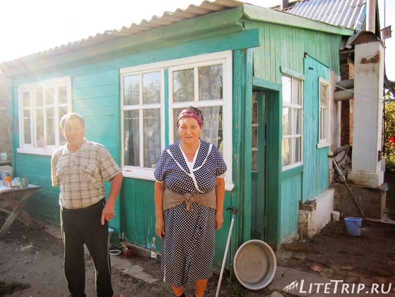 Россия. Ночлег в деревне у бабы Нины и деда Алексея.