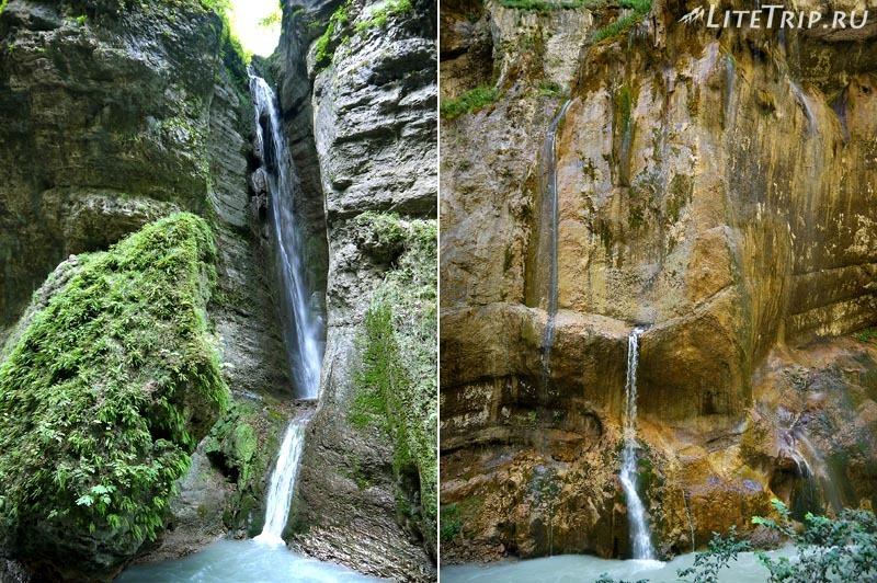 Россия. Кабардино-Балкария. Чегемские водопады - первый.
