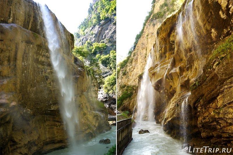 Россия. Кабардино-Балкария. Чегемские водопады - поток.