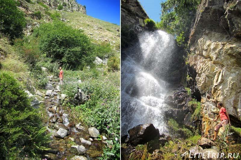 Россия. Верхняя Балкария - тропинка к водопаду.