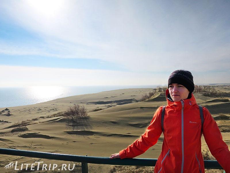 Калининград. Куршская коса. Высота Эфа - дюны и море