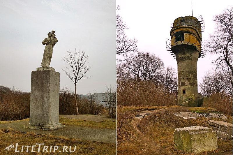 Калининградская область. Балтийск. Набережная. Памятник женам моряков и бункер.