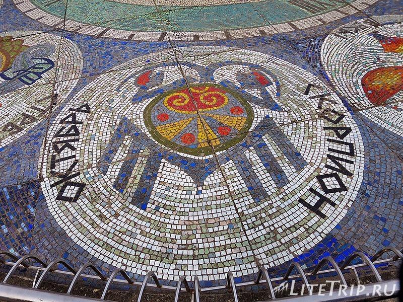 Калининградская область. Светлогорск. Набережная - солнечные часы созвездия.