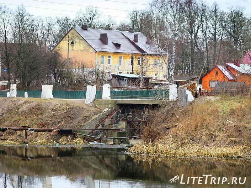 Калининградская область. Неман. Разминированный мост.