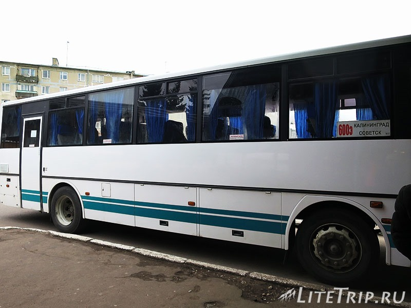 Калининградская область. Советск. Автобус.