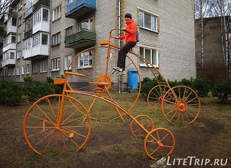 Калининградская область. Советск. Памятник велосипеду.