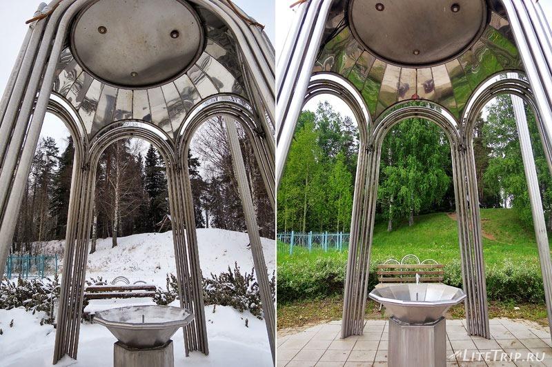 Питьевой минеральный фонтан в Нижнеивкино