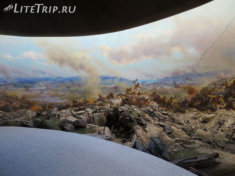 Панорама в диораме Штурм Сапун горы