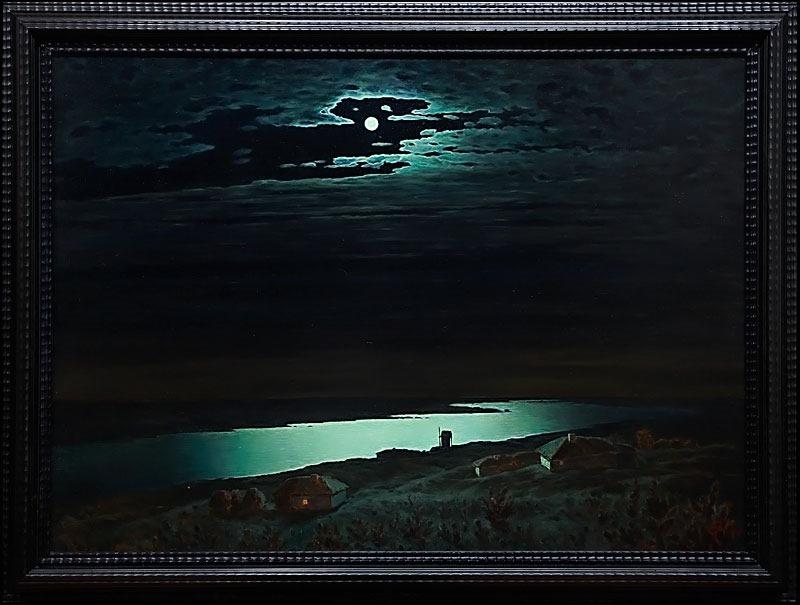 """Крым. Ялта. Ласточкино гнездо - картина """"Лунный свет над Днепром"""" Куинджи."""