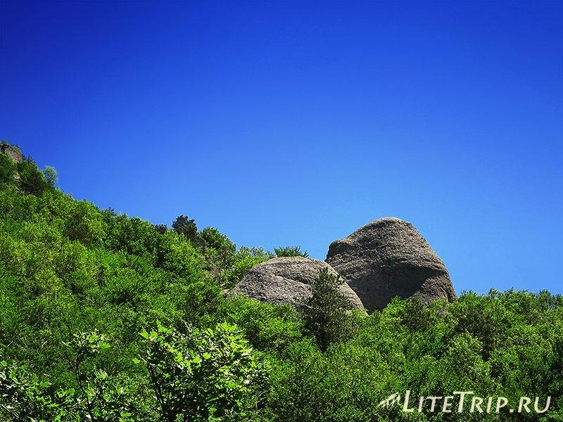 Крым. Демерджи. Долина Привидений. Два камня.