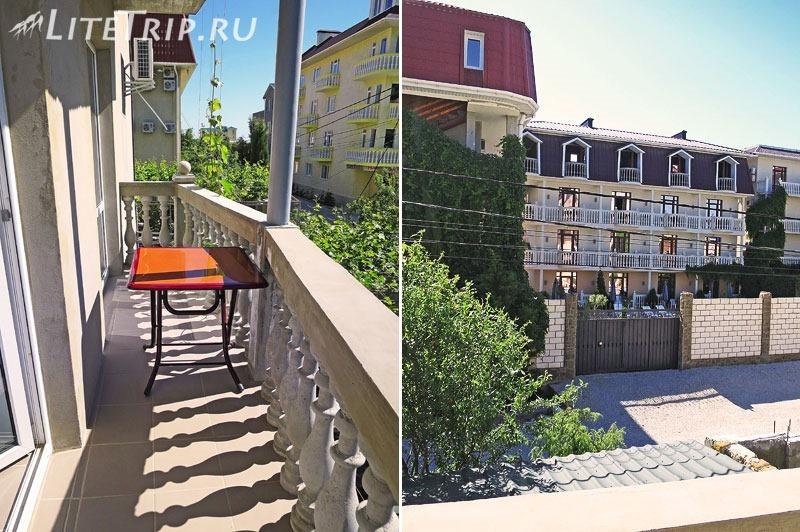 Крым. Судак. Жилье - балкон с видом.