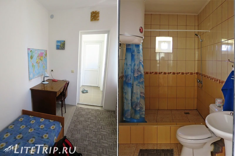 Крым. Судак. Жилье - маленькая комната и туалет с душем.