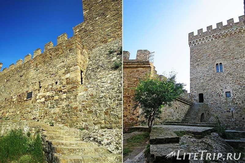 Крым. Судак. Генуэзская крепость. Консульский замок. Внутренний двор.