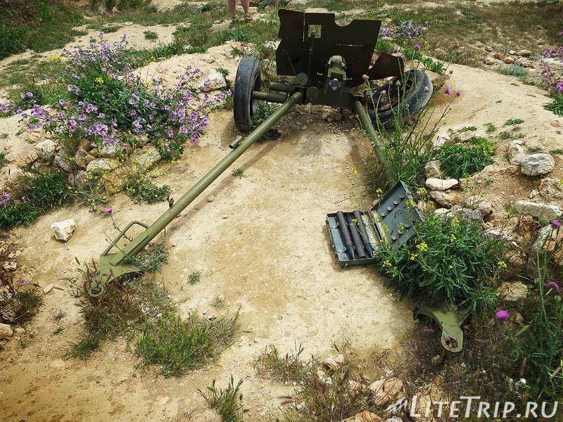 Крым. Севастополь. 35-я батарея - пушка в окопном парке.