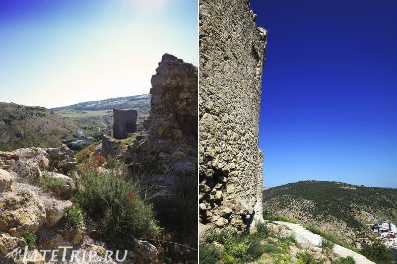 Крым. Балаклава. Генуэзская крепость Чембало. Руины.