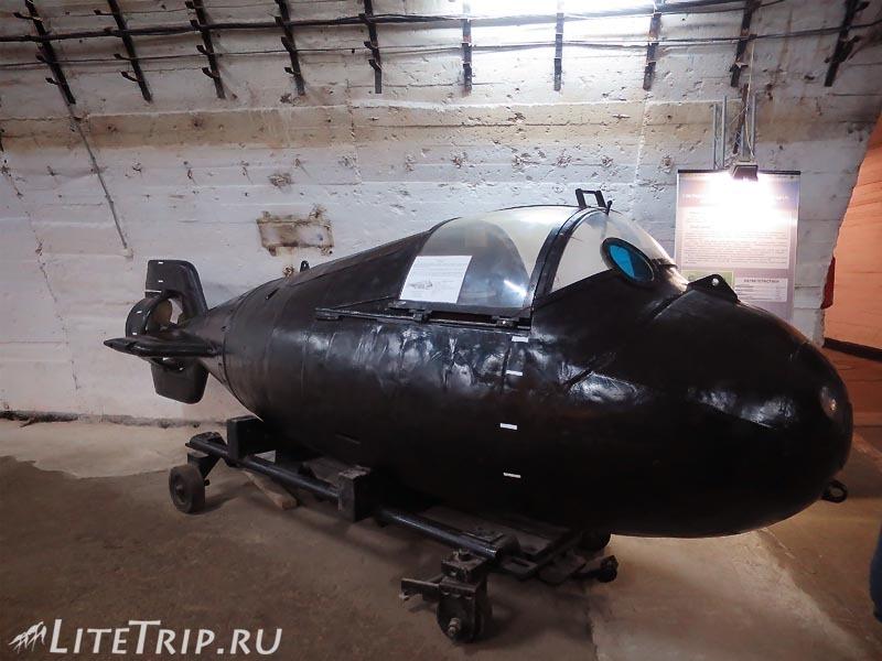 Крым. Балаклава. Музей подводных лодок. Батискаф.