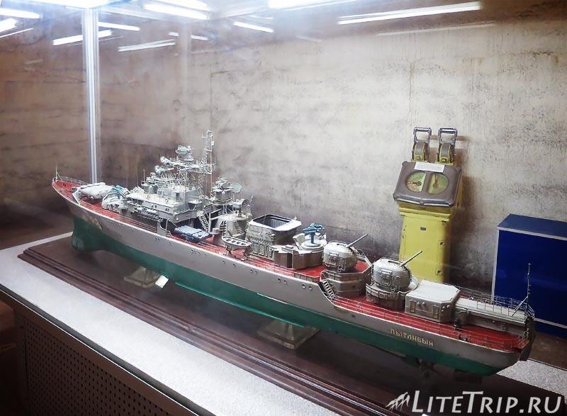 Крым. Балаклава. Музей подводных лодок. Макет.