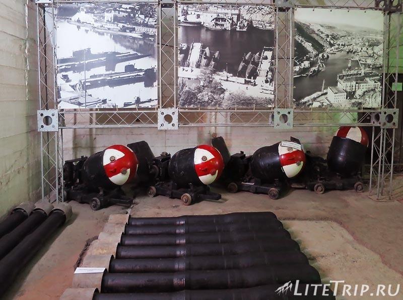 Крым. Балаклава. Музей подводных лодок. Боеприпасы.
