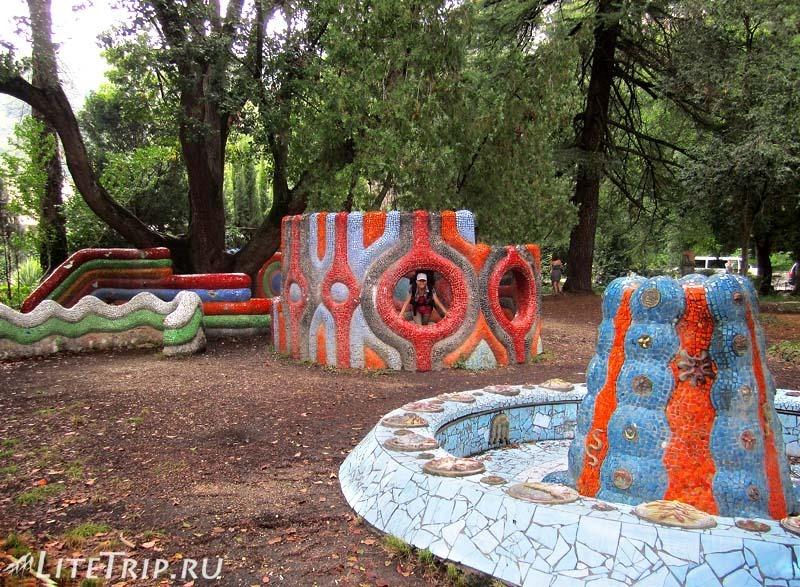 Абхазия. Гагра (Гагры) - детская площадка.