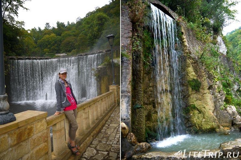 Абхазия. Новый Афон. Плотина и водопады.