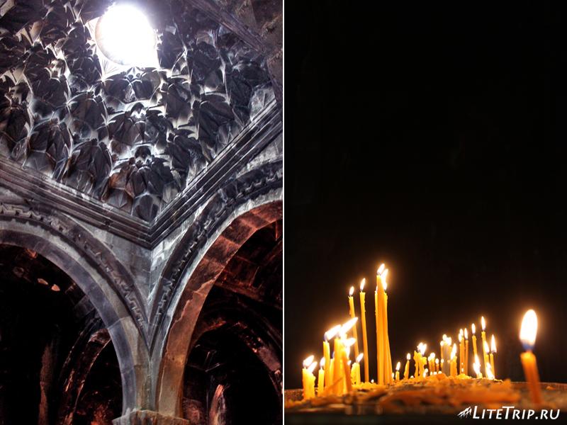 Готические своды монастыря Гегард