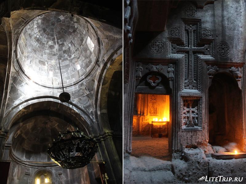 Внутри монастыря Гегард нет электричества